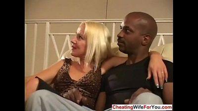Cuckold wife jizzed on - 7 min