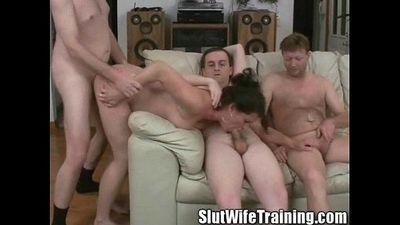 Wife Holly on a Slut Wife Training - 3 min