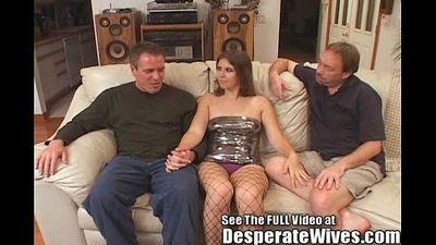 Dana Fulfills Her Slut Wife MFM Three Way Fantasy w/Dirty D - 4 min