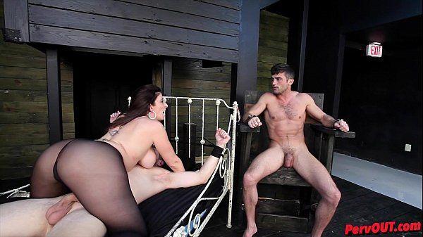 Sara Jay has sex slaves ALEX ADAMS and LANCE HARTHD