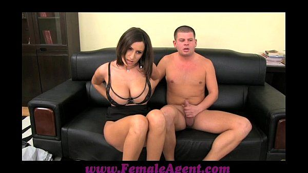 FemaleAgent Big boobed MILF results in thick ropes of cum