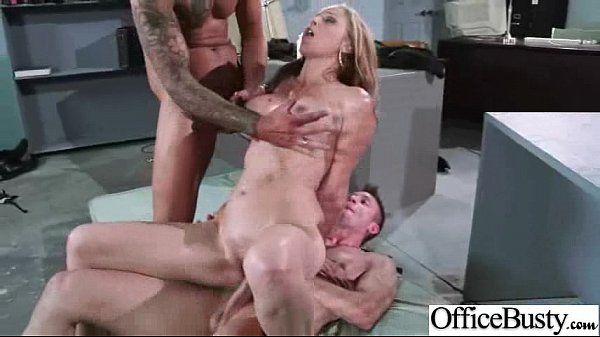 Slut Girl (julia ann) With Big Melon Tits Banged In Office clip-22