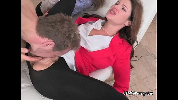 Samantha gets her pussy stuffed by her horny customer