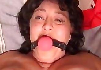 Anal Big Tit MILF Gets Ball Gagged