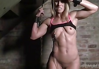 Claire - Nipple Clamps in the Dungeon