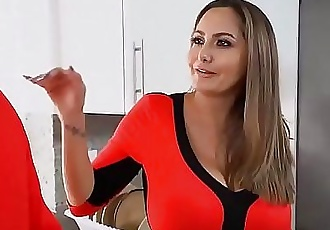 Stepmom of wide hips fucks her son for the first time 15 min