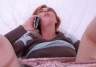 I fucked my redhead stepmom while she was on the phone 6 min HD