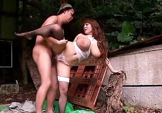 Mature Hitomi Tanaka pounded outdoors - 8 min HD