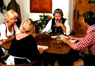 Perv fucks a filthy blonde grandma in vintage scene