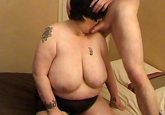 Granny With Huge Breasts - 58 sec