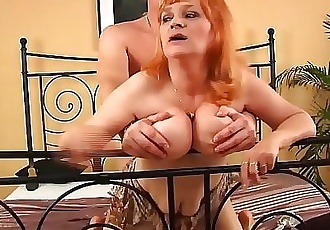 redhead busty hairy mature rough fucked 12 min HD+