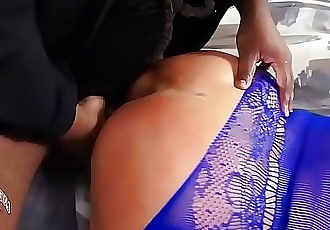 Roc Bundy smashes blonde mask wearing milf with his fat cock while she dances and twerks her PAWG whooty ass..