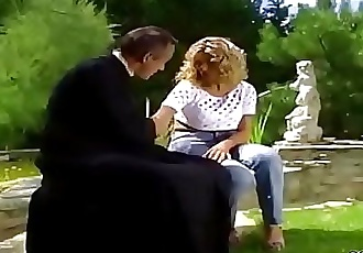 Hot MILF Anal Fucked Outdoor in German Classic Porn 16 min