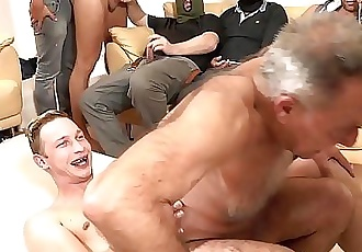 Young and old gay orgy with double penetration 5 min 1080p