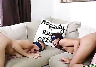 Hot babes gets blindfolded and fucked by their dads! 8 min 720p