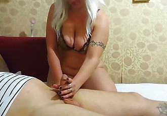 milf Fingering guy. hand Job