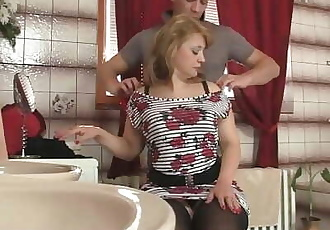 Girlfriends hot mom takes his horny big cock