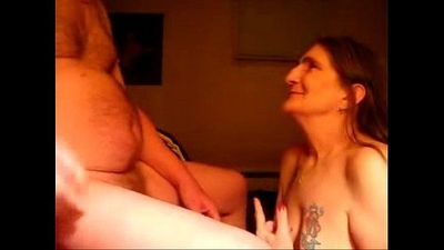 Cumming in mouth of ugly submissive granny. Real amateur - 55 sec