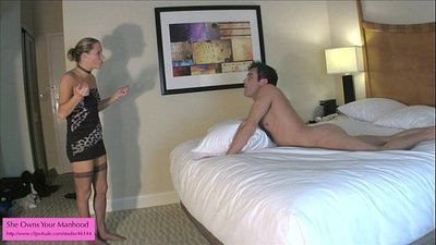 Ballbusting BJ from Kinky Porn Mom - 2 min