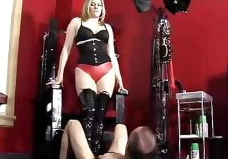 Elektra Skye Ballbusting Whipping and Nylon Worship