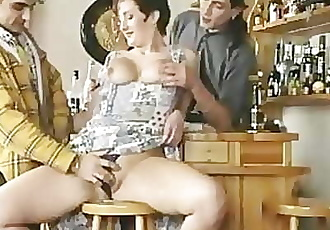 big titted mature fucked in a bar