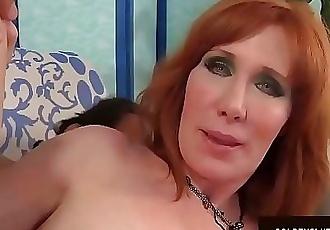 Mature Redhead Freya Fantasia Sucks on a Boner and Then Fucks It 8 min HD
