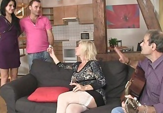 His parenets lure her into threesome - 6 min