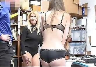 Grand Daughter and Mother Caught Shoplifting and Fucked By Officer | CuteLifter.com 8 min