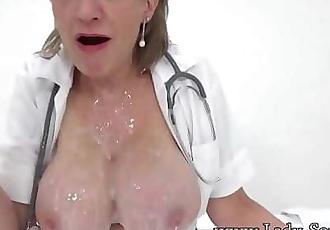 Jerk off instructions from naughty nurse Lady Sonia 6 min 1080p