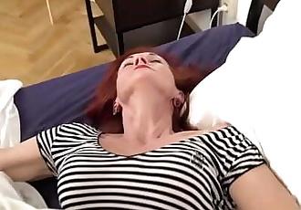Skinny redhead grandma picks up boy and licks his big cock 5 min 720p