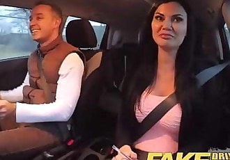 Fake Driving School exam failure ends in threesome double creampie 14 min 720p