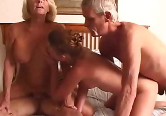 Teen fucks her Grand Parents 10 min