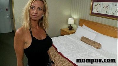 big tit milf fucks two young cocks - 5 min