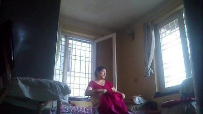 Desi granny after bath - 3 min