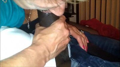 Granny Takes a Black Cock in her Mouth - 4 min