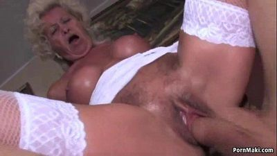 Granny screams while fucked hard - 6 min HD