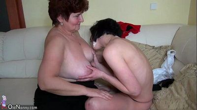 Older women fucking with younger women and licking women pussy - 8 min HD