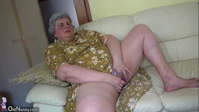 OldNanny Pretty girl and fat granny masturbating together - 8 min HD