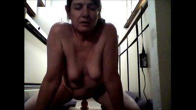 Me 53 years old riding dildo on kitchen floor - 7 min