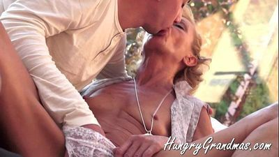 70plus granny and her young fuck toy - 7 min