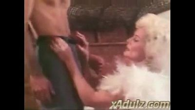 Retro Grey Haired Granny Gives Sensual Deepthroat and Tit Job - 9 min
