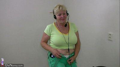 OldNanny Old granny dancing - 8 min HD