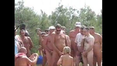 Wife used by 20 strangers at nude beach - 1 min 13 sec