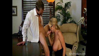 Busty Boss Sucks Cock In Her Office - 4 min