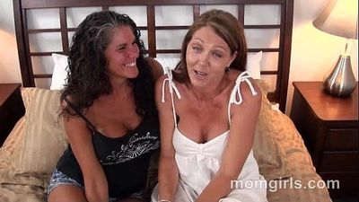 Two busty milf friends fuck and suck the same cock - 5 min