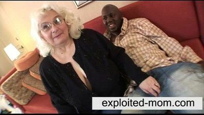 Granny loves black cock - 5 min