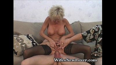 Older MILF Pleasured By Young Lover - 3 min