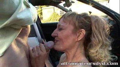 Public Deepthroat Milf Bonie Does 2 Guys in Car Park Amateur Reality - 6 min