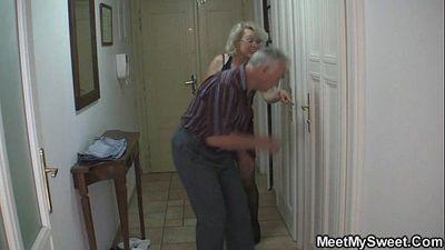 Perverted parents fuck his GF - 6 min