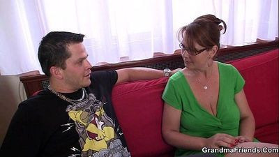 Anal loving mom jumps on cock - 6 min
